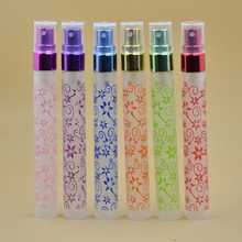 Wholesale 6 Color Mixed 102pcs 10 ml Mini Small Empty Glass Perfume Spray Bottles With Plastic Cap Free Shipping