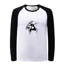 Sagittarius Scorpio Design Constellation Raglan Long Sleeve T Shirt Men Women Fashion Patchwork Tshirt Boy Girl Birthday Gift
