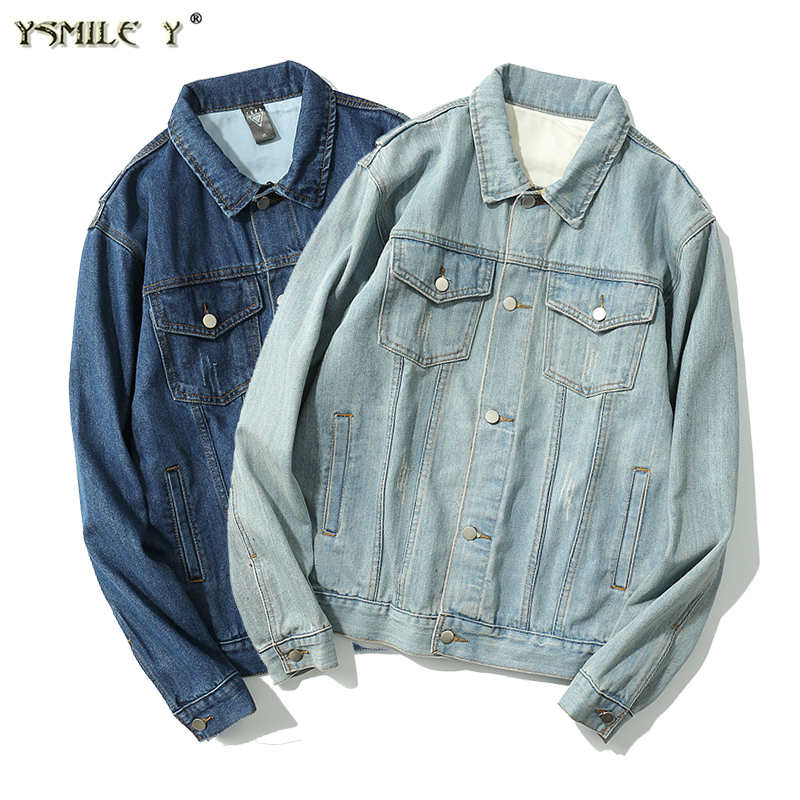 Fashion Denim jacket casual outerwear Coats Bomber Jacket Men High Quality Cowboy Mens Jean Jacket Light blue M/L/XL/XXL