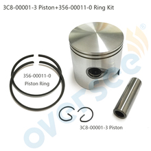 3C8-00001-3 /4 STD Piston Set WITH RINGS For Toahtsu M40D 40HP outboard Engine boat motor brand new aftermarket part