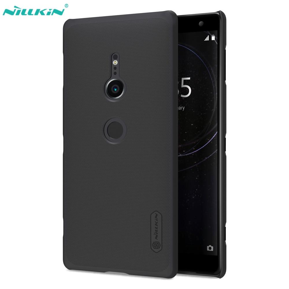 NILLKIN Mattschirm Harte Rückseitige Abdeckung Telefonkasten sFor Sony Xperia XZ2 Fall Für Sony Xperia XZ2 Kompakten Gehäuse + Displayschutzfolie