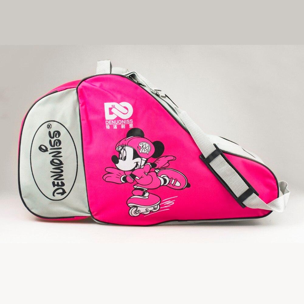 NEW 2017 NEW Kids Adult Cute Cartoon Roller Skate Bag Portable Carry Bag Shoulder Bag Big Capacity Mouse Movie Gift 55x22x33cm