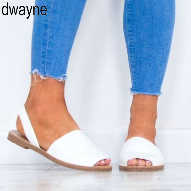 2019 Plus Size 35-43 Flats Sandals Summer Women Sandals Fashion Casual Shoes For Woman European Rome Style Sandals Female ui90 big toe sandal