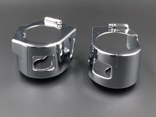 CHROME BILLET SWITCH HOUSING COVERS for <font><b>Kawasaki</b></font> <font><b>Vulcan</b></font> 2000 900 VN <font><b>VN900</b></font> VN2000 image