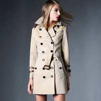 Trench Coat 2017 Fall Fashion Womens Runway Windbreakers Clothing Spring Autumn Duster Women LadiesLong Wind Coats British Style