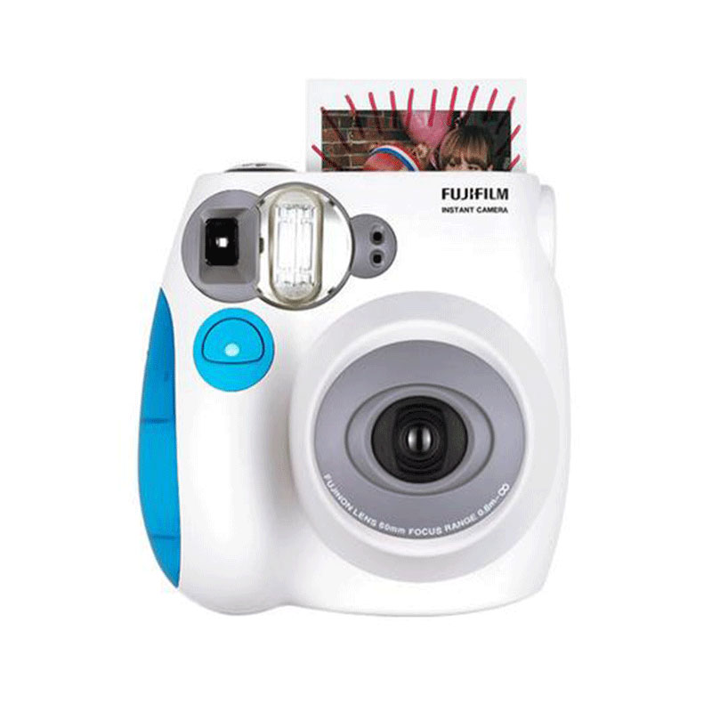 Prix pour Véritable VENTE CHAUDE Mode Fuji Fujifilm Instax Mini 7 S Deux Couleurs Instant Photo Caméra Mini Film caméra Livraison gratuite