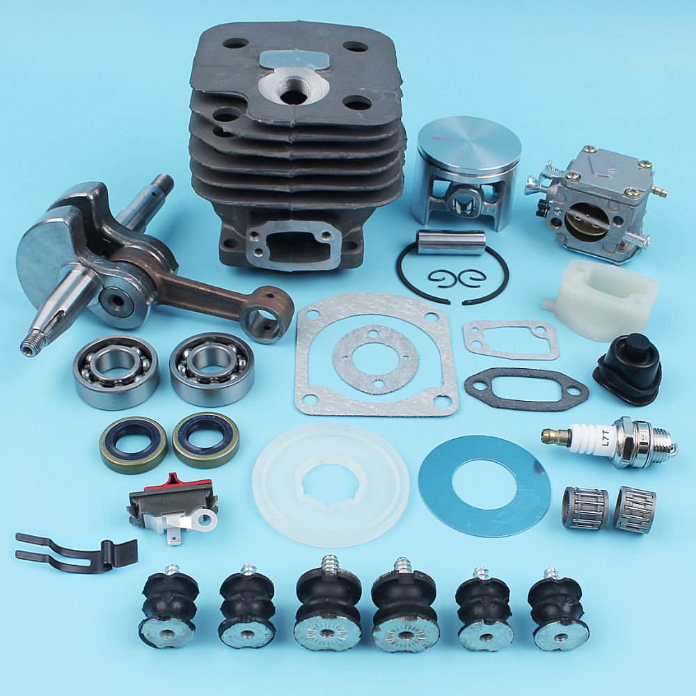 52mm Nikasil Cylinder Piston Crankshaft Carburetor Kit For Husqvarna 268 272 272K 272XP Chainsaw AV Buffer Bearing Washer Gasket 52mm cylinder barrel & piston assembly fits husqvarna 268 272 chainsaw part
