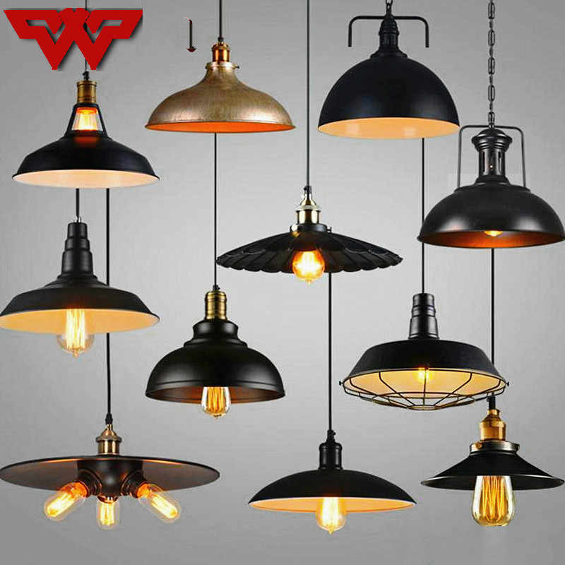 loft creative personality American retro industrial style rural warehouse bar table single restaurant wrought iron  chandelier