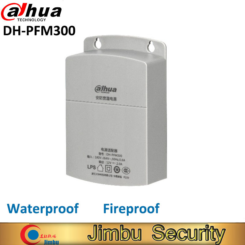 Dahua Outdoor Power Supply CCTV Adapter DH-PFM300 Waterproof Output 12V 2A Input 180~260V Power Switch For Cctv Camera