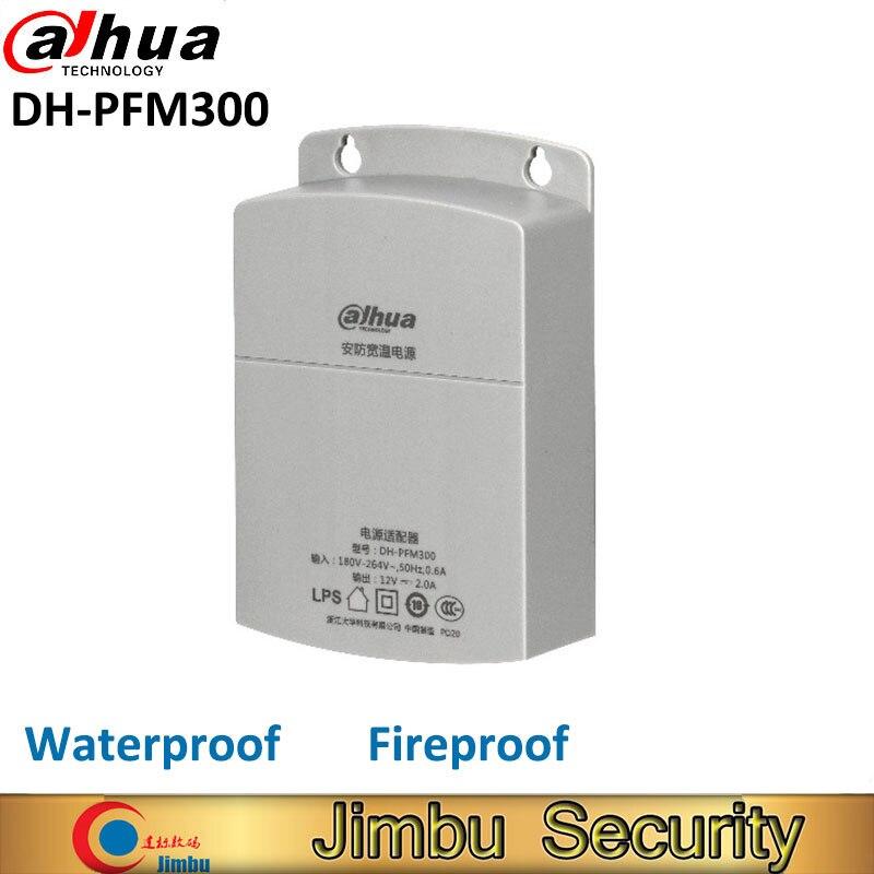 Dahua Outdoor Power Supply CCTV Adapter DH-PFM300 Waterproof Output 12V 2A Input 180~260V Power Switch for cctv camera