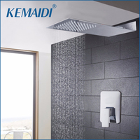 Bathtub Rainfall Shower Head Luxury Wall Mounted Square Style Brass Waterfall Shower Set Factory Direct New Bathroom Shower Tap