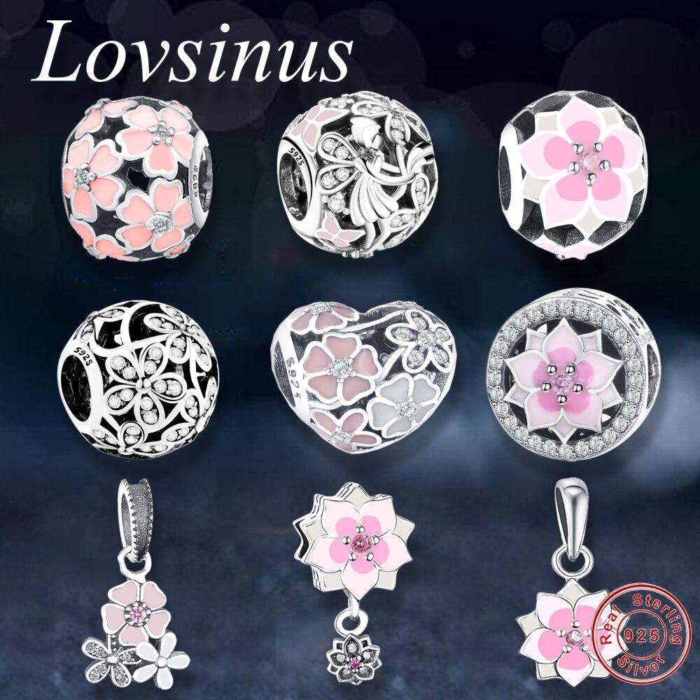 Подходят оригинальный Pandora браслет элегантный Ослепительная цветок ромашка шарик шарма CZ Европейский 925 пробы Серебряные ювелирные изделия Bijoux подарок