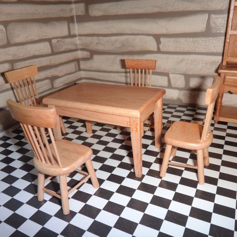 Dining table and chair set doll house 8