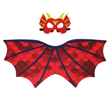 SPECIAL  Red Dinosaur Wing Mask Cosplay Girls Kids Costume Dance Performances Animal Novelty Costumes Child Carnival