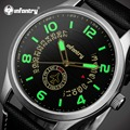 INFANTRY Luxury Brand Stainless Steel Analog Display Date Men's Quartz Watch Waterproof Army Watch Male Clock Relogio Masculino