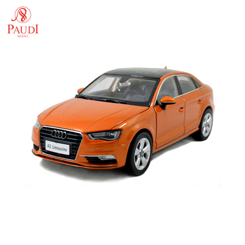 1/18 1:18 1 18 Scale Audi A three Sedan Limousine Orange Static Simulation Diecast Alloy Model Car Gifts Collections image