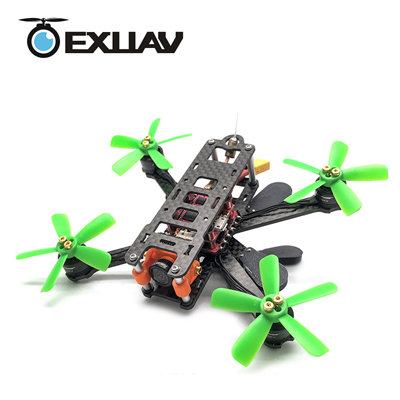 EXUAV A-MAX 125H RC FPV Racing Drone Package 125MM Wheelbase 2.5mm Arms Carbon Fiber Frame Kit HX Structure For DIY Toys awesome f100 100mm quadcopter frame kit wheelbase mini four axis aircraft pure carbon fiber for fpv rc racing drone frame kit