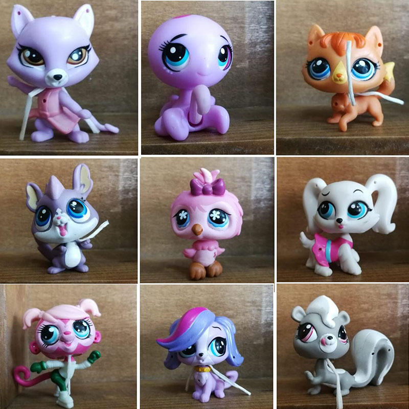 Lovely Cute LPS Mini Pet Shop Animal Figures Sausage Dog Super Cat Great Danes Doggy Girls Toys Speelgoed LPS Accessories Toys