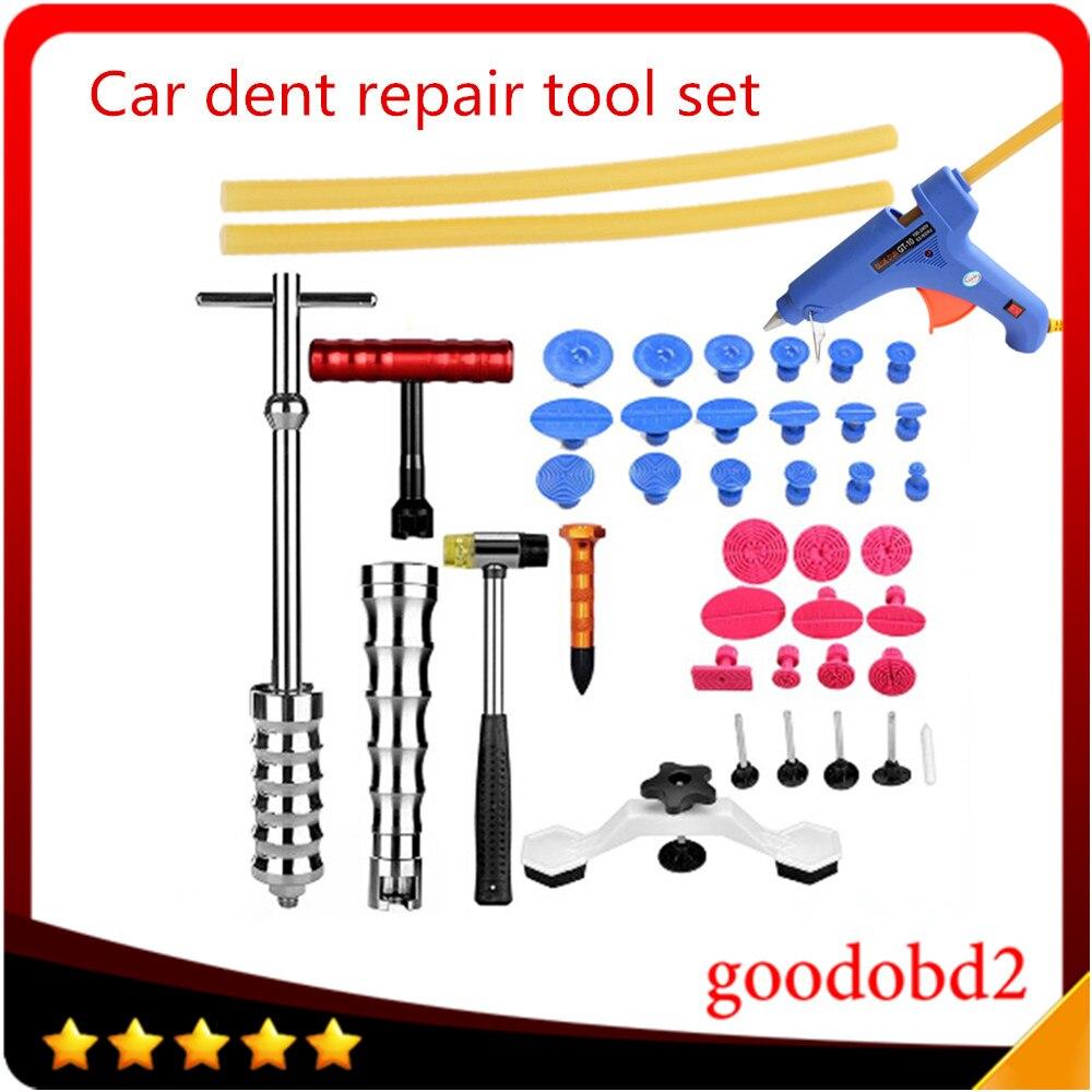 Auto aparece un Dent Ding Reparación de herramienta de eliminación de cuidado de coche juego de herramientas para vehículo automóvil ABS pistola de pegamento 220 V pintura DIY de Las abolladuras