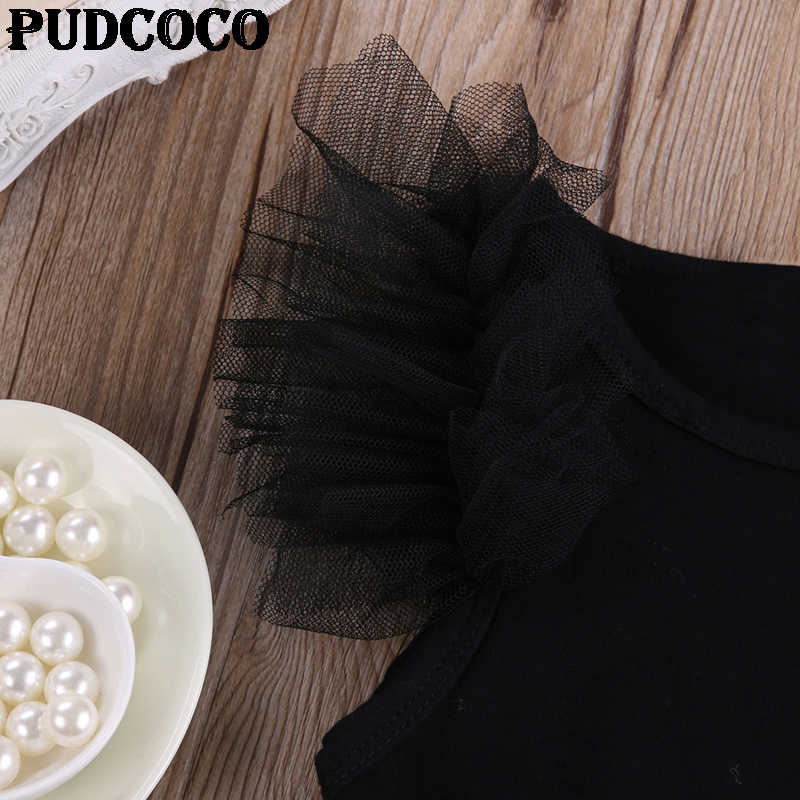 Детские комбинезоны для маленьких девочек, милое черное платье с вышивкой «My Little», 2017 г. летний комбинезон без рукавов, сетчатый декор, милый комбинезон для детей от 0 до 18 месяцев
