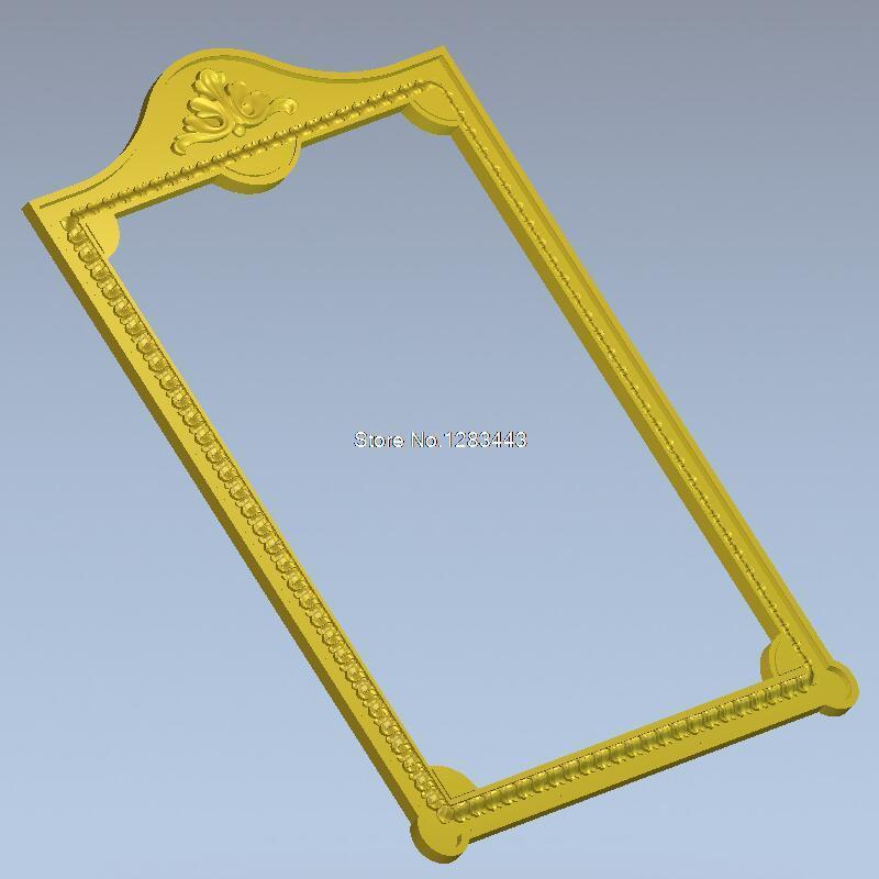 Frame_47 3d Model Design Exclusive Simple Flower Frame Relief For Cnc Machine In STL File Square Picture Frame