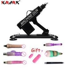 IGRARK Sex Maschine Weibliche Masturbation Pump Pistole Mit 5 Dildos Anhänge Automatische Sex Maschine für Frau Sex Produkt