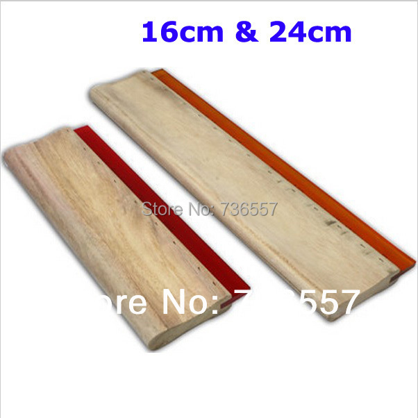 16cm & 24cm Screen printing Squeegee Ink Scraper Fast Shipping Customization Accepted free shipping 3m squeegee high quality wrapping scraper with cloth pp sticker scraper car wrap tools felt scarper squeegee a02
