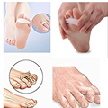1Pair Hallux Valgus Correction Gel Silicone Bunion Corrector Toe Separators Straightener Spreader Foot Care Massager  Z24801