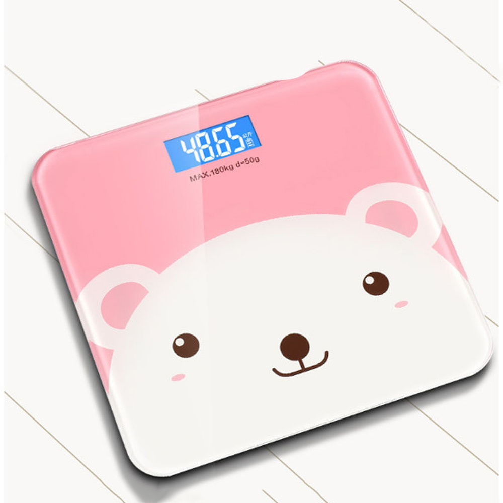 Smart Electronic Weight Scale LCD Display Weight Scale USB Charging Household Health Accurate Adult Weight Loss Weighing Device(China)