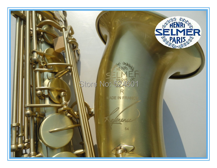 Low Price Henri SELMER Tenor Saxophone Music Instruments Reference 54 Bronze Plated with Gloves Cleaning Cloth Brush Straps alto saxophone selmer 54 brass silver gold key e flat musical instruments saxophone with cleaning brush cloth gloves cork strap