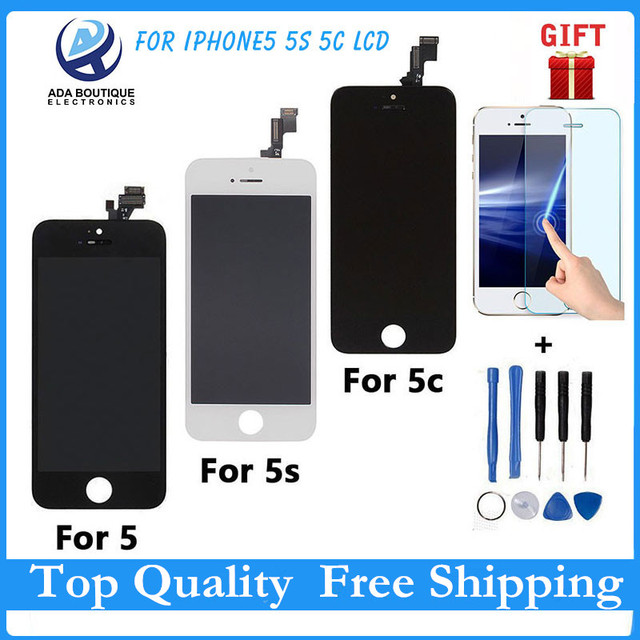 AAA Quality No Dead Pixel LCD Display Touch Screen Digitizer Assembly For iPhone 5S Replacement Repair Parts Black White