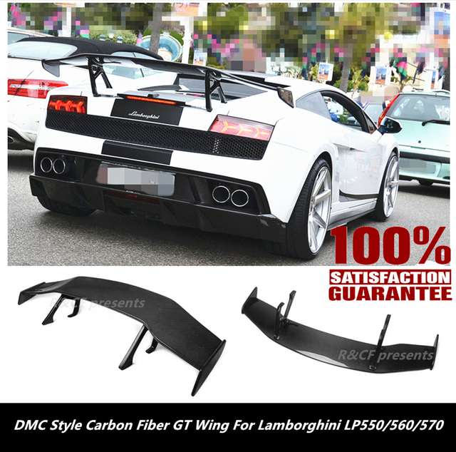 Gallardo LP550 LP560 LP570 Rear Spoiler Wing//DMC Style Carbon Fiber Rear GT  Wing