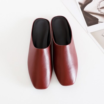 MLJUESE 2019 women slippers Soft Cow leather outside Rome style square toe black color beaches flats sandals 34-40