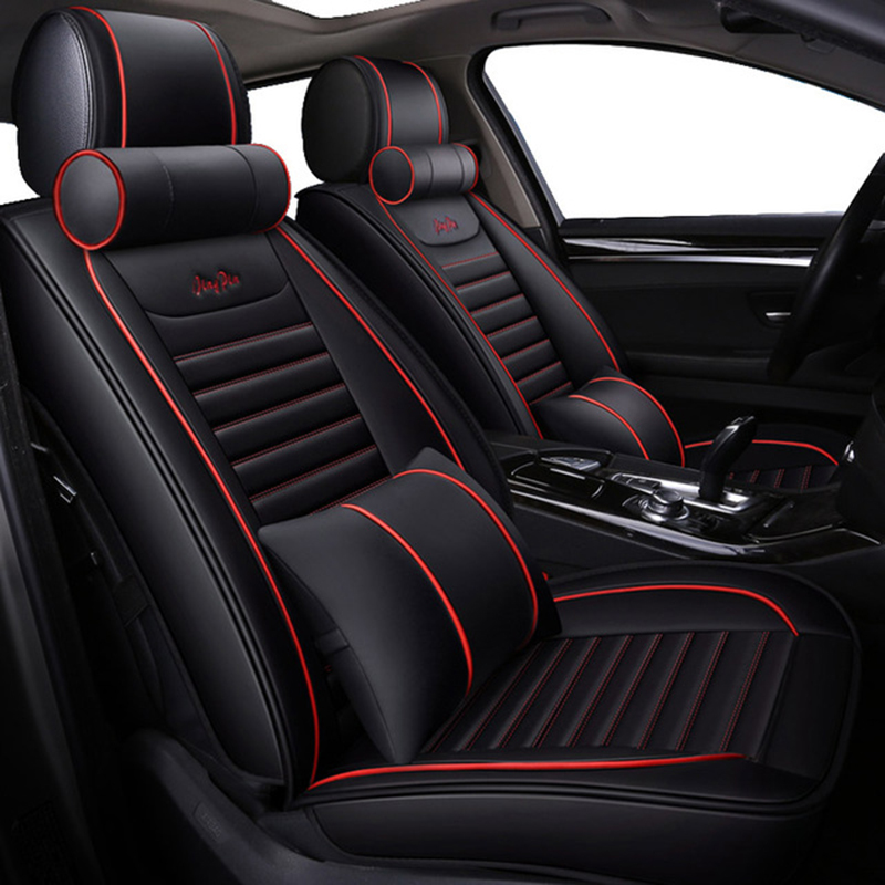 WLMWL Universal Leather Car seat cover Fit Most Interior Accessories Sedans Seat Cushion car styling auto