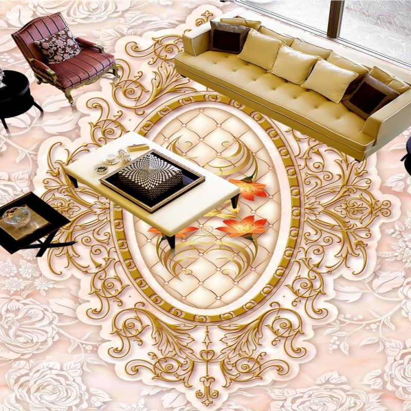 Free Shipping flooring custom wallpaper Marble pattern mosaic 3D flooring painting supermarket floor mural