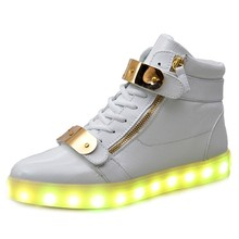 New Led Light Shoes Children LED Light Shoes Men Female USB Charging Sports Walking Shoes