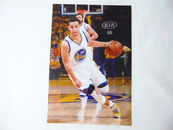 8*(42x29cm)NBA basketball star Stephen Curry Warriors 8 mounted poster sticker mural wall stickers 5