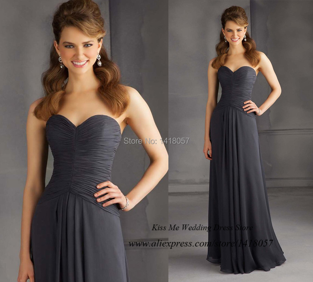 Pretty grey bridesmaid dresses reviews online shopping pretty pretty grey bridesmaid dresses 2015 long wedding party dress pleated chiffon vestido de madrinha de casamento longo ombrellifo Images