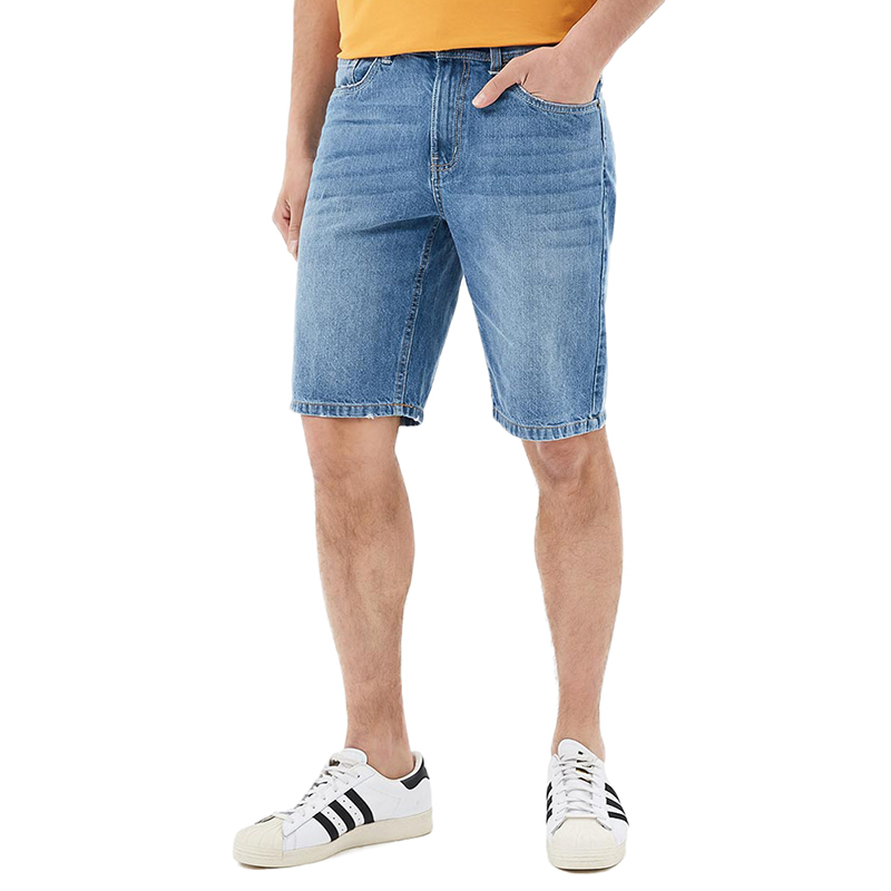 Casual Shorts MODIS M181D00256 men cotton shorts for male TmallFS 2016 new summer mens straight denim shorts large yards five cents knee length jeans shorts for man high quality cotton jeans men