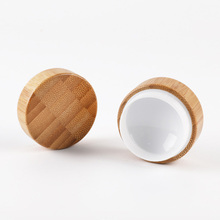 5ml 10ml 30ml Natural Bamboo Refillable Bottle Cosmetics Jar Box Makeup Cream Storage Pot Container Round Portable
