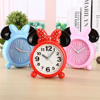 Disney Mickey Minnie Mouse zegar budzik kreatywny dla dzieci chłopiec dziewczyna uczeń lampki nocne budzik codzienna konieczność Alarm domowy zegar tanie i dobre opinie Budziki Luminova Antique style Mechaniczne Nowoczesne 152mm 110mm circular Igła 200g ZY180918-12 Dotykowe 75mm Z tworzywa sztucznego