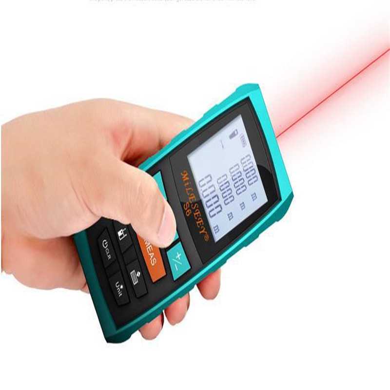 Mileseey X6 Handheld Rangefinder Laser Distance Meter Digital Laser Range Finder Laser Tape Measure 70M