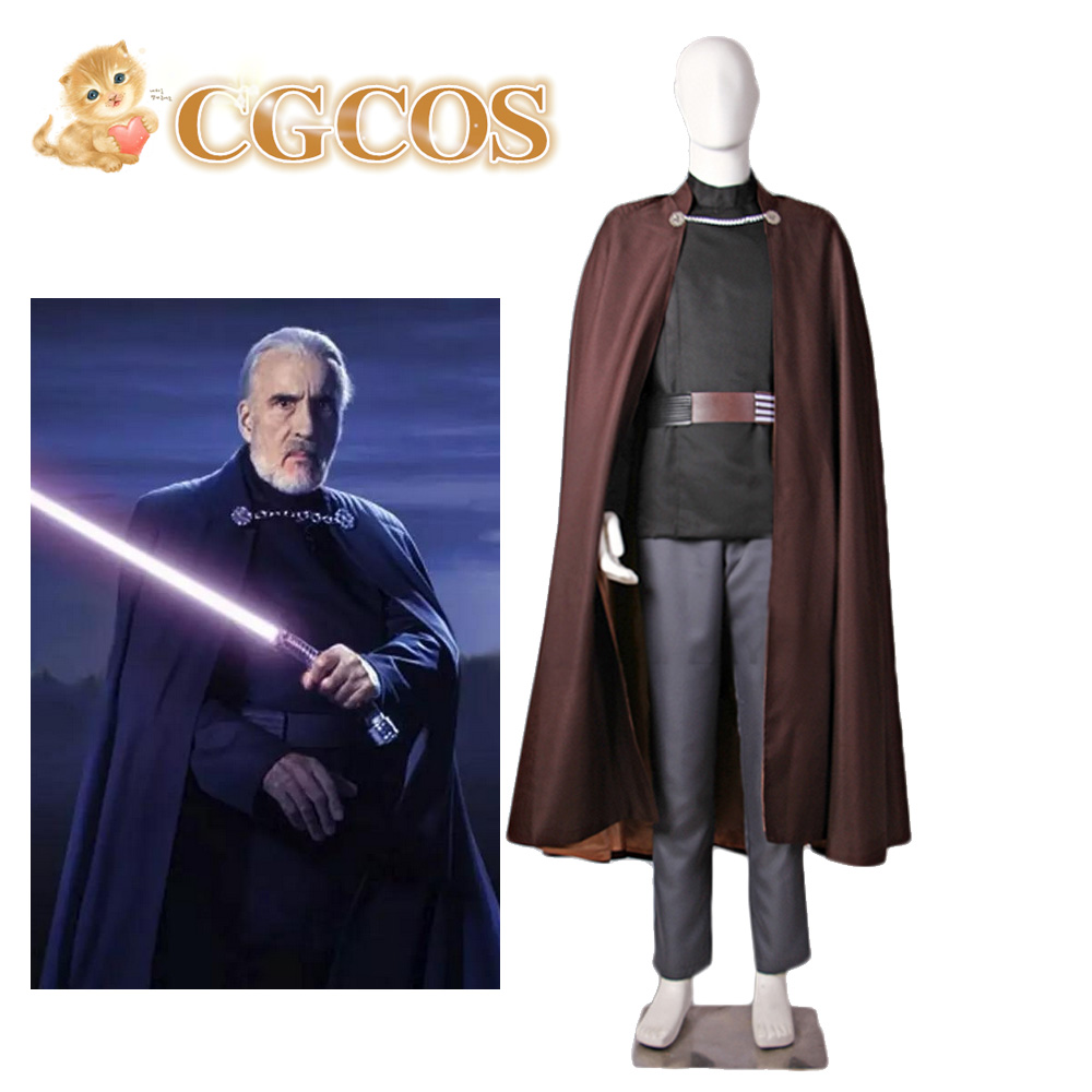 CGCOS Express Star Wars adult costume Jedi Master Count Dooku Daily Use Game Cos Dress Anime Cosplay Costume Uniform Custom-made