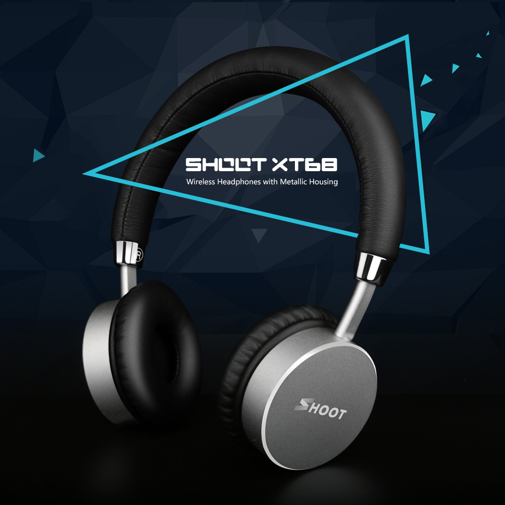 SHOOT Wireless Bluetooth Headphones with Microphone Dynamic Stereo Headset for iPhone Xiaomi Meizu Android Phone Music Call remax rb s6 wireless bluetooth earphone headphones with microphone sport stereo bluetooth headset for iphone android phone