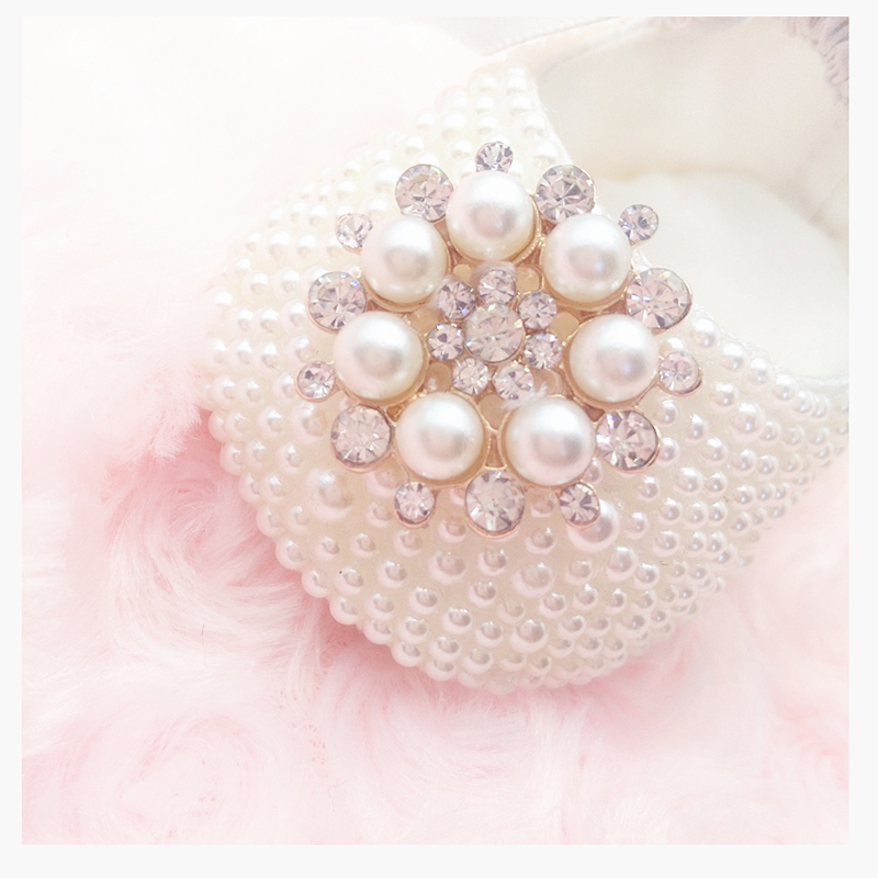 SET of headband Christening baby shoes , crystal Pearl Encrusted toddler, Birthday, Party newborn Shoes baby shower gift BB25