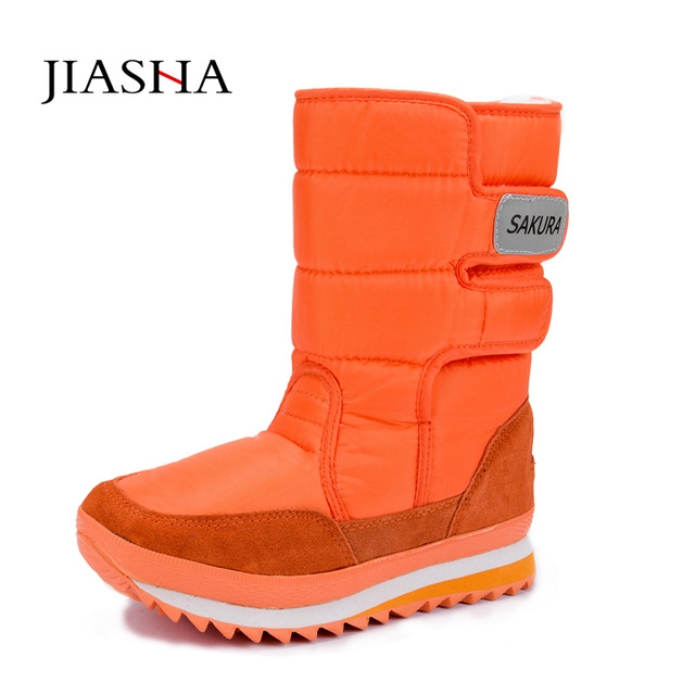 Women boots 2017 women snow boots winter non-slip   unisex winter boots leisure candy color
