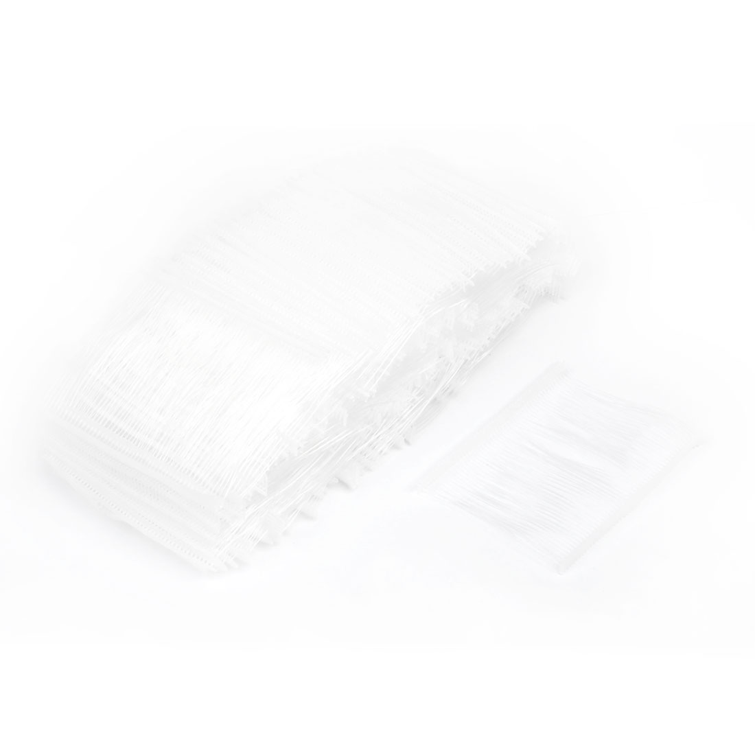 UXCELL 75Mm Length Pp Fine Tag Pins Fasteners Clear White 5000 Pcs