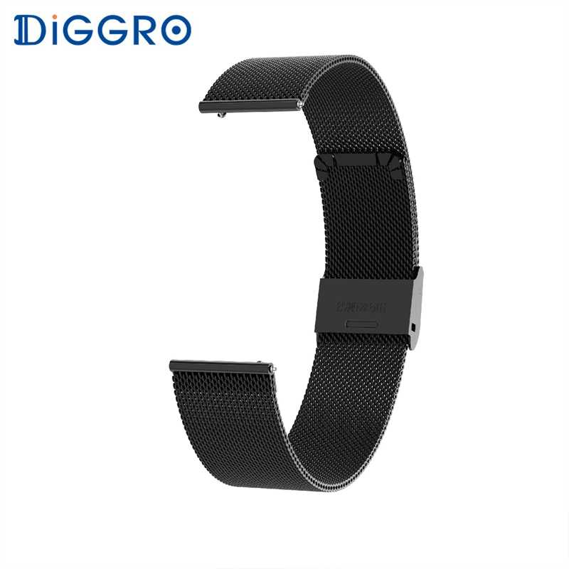 Diggro DI03 DI03 Plus Smart Braclet Stainless Steel Leather Watch Strap for DI03 DI03 Plus