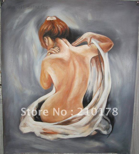 Oil on canvas woman nude