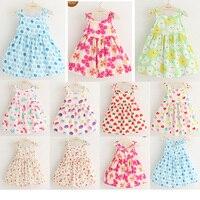 Girls Dress Summer 2016 New Children Little Girl Skirt Thin Vest Skirt Baby Floral Dress